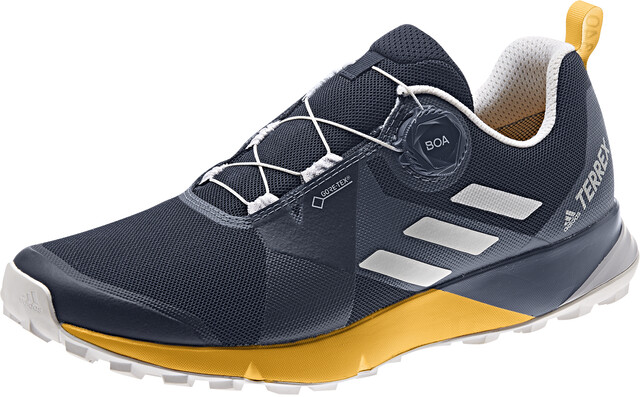 adidas TERREX Two Boa GTX Shoes Herre collegiate navygrey oneactive gold